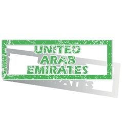 Outlined united arab emirates stamp vector