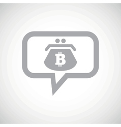 Bitcoin purse grey message icon vector