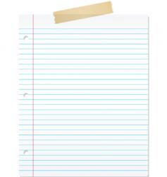 Lined paper vector
