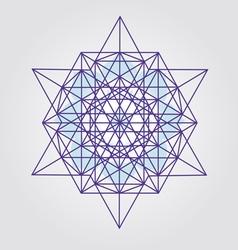 Star tetrahedron design vector