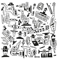 Jazz party doodles vector