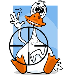 Sitting duck saying cartoon vector