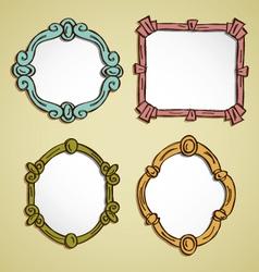 Vintage frame doodle vector
