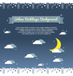 Urban building background vector
