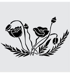 Decorative poppies vector