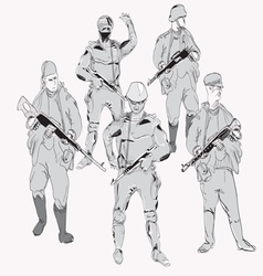 Gunmen vector