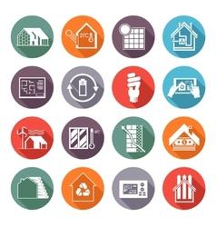 Energy saving house vector