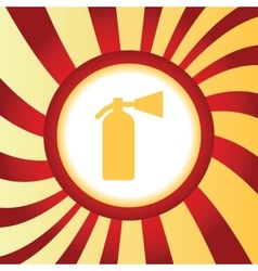 Fire extinguisher abstract icon vector