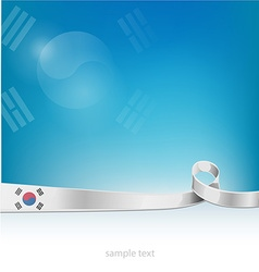 Flag of south korea on background vector
