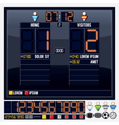 Universal sport scoreboard vector