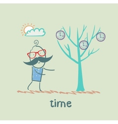 Man grows a tree with clock vector