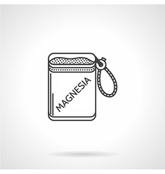 Black icon for magnesium bag vector