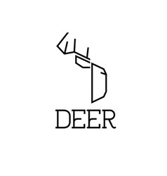 Deer monogram vector