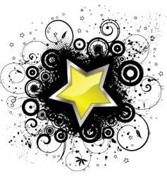 Grunge star vector
