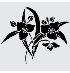 Decorative lilies vector