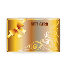Gold gift coupon gift card vector