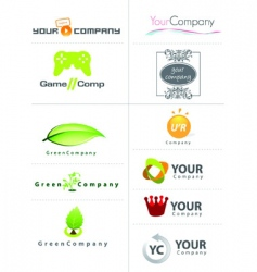 Logo and icon sample vector
