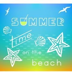 Summer time on the beach vector