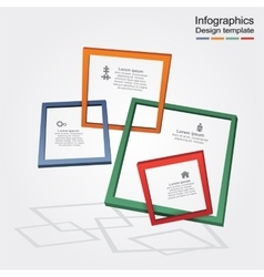 Infographic report template with frames and icons vector