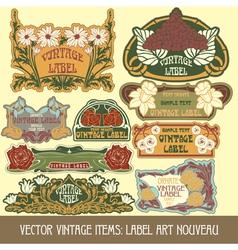 Label art nouveau vector