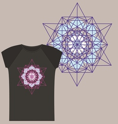 Star tetrahedron for a t shirt vector