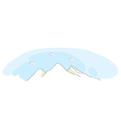Mountain and sky vector
