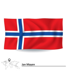 Flag of jan mayen vector