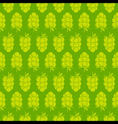 Green grapes bunch pattern design for wrapping vector