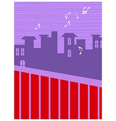 Neighborhood music background vector