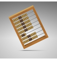 Isolated retro light wood abacus for calculation vector