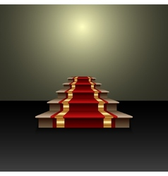 Abstract of red carpet on the staircase vector