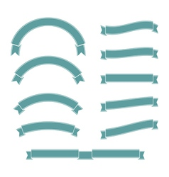 Ribbons set old style vector