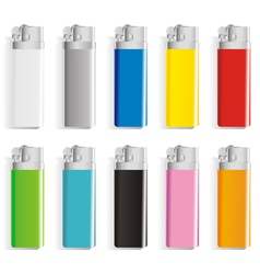 Set souvenir color lighters vector