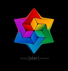 David star abstract design element vector