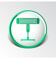 Electric heater light icon energy vector