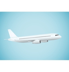Plane in blue background vector