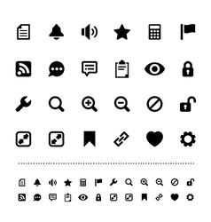 Retina interface icon set vector