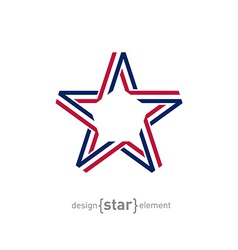 Usa star from ribbon vector