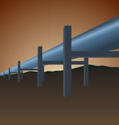 Gas pipe vector