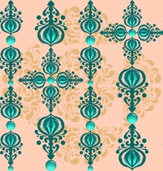 Glass beads pattern vector