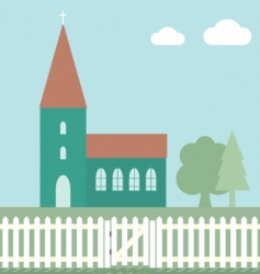Church fence vector
