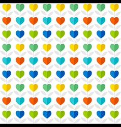 Colorful heart pattern plant background design vector