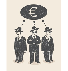 Thinking about money vector