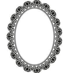 Frame oval vector