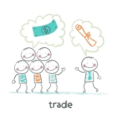 Trade talks to people about the documents vector