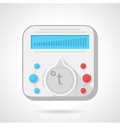 Colorful icon for heated floor vector
