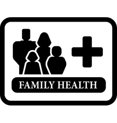 Family health icon vector