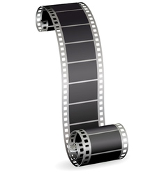 Twisted film strip vector