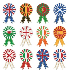 European rosettes vector