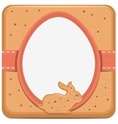 Easter bunny and egg shape cookie vector